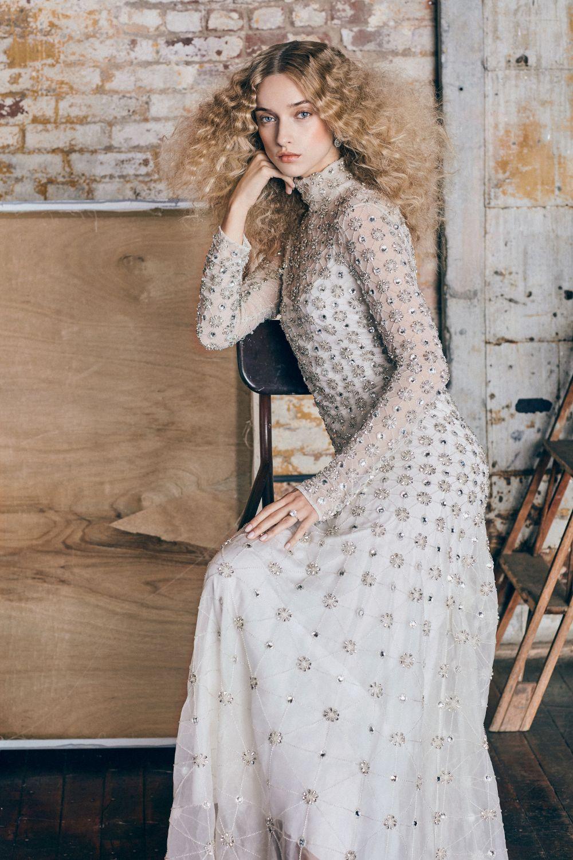 The exclusive Temperley London Long Crossbone Lattice Bridal Gown ...