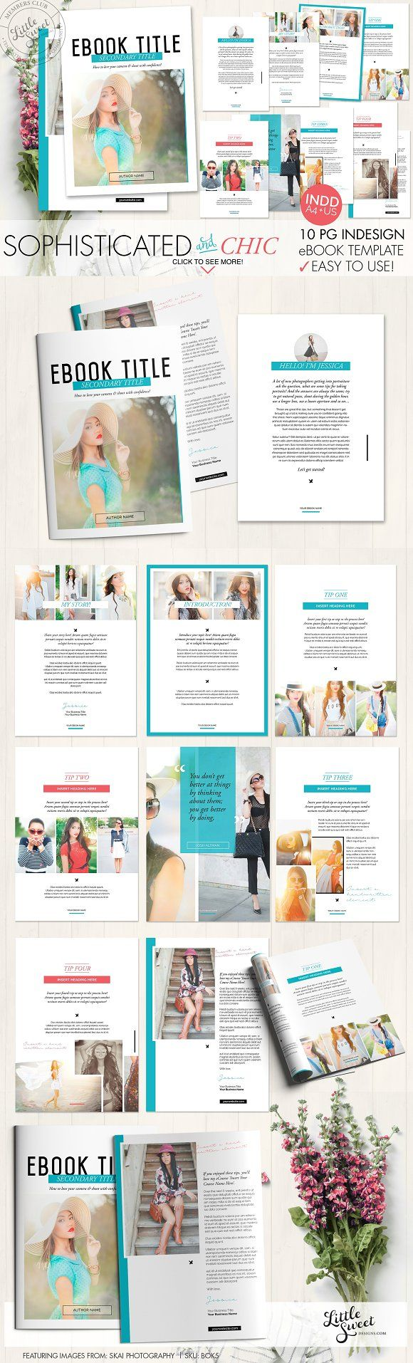 10page eBook Template InDesign + Pho | Template, Magazine layouts ...