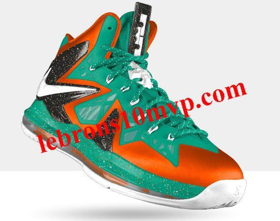 purchase cheap b17ea 32e09 Nike LeBron X PS Elite Poison Green Orange Metallic Silver