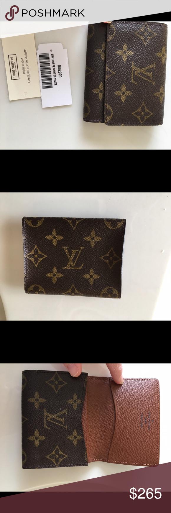Authentic LV Enveloppe Cartes Visite De M62920 Made In Spain