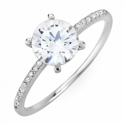 Ladies solitaire wedding ring.. Absolutely gorgeous!