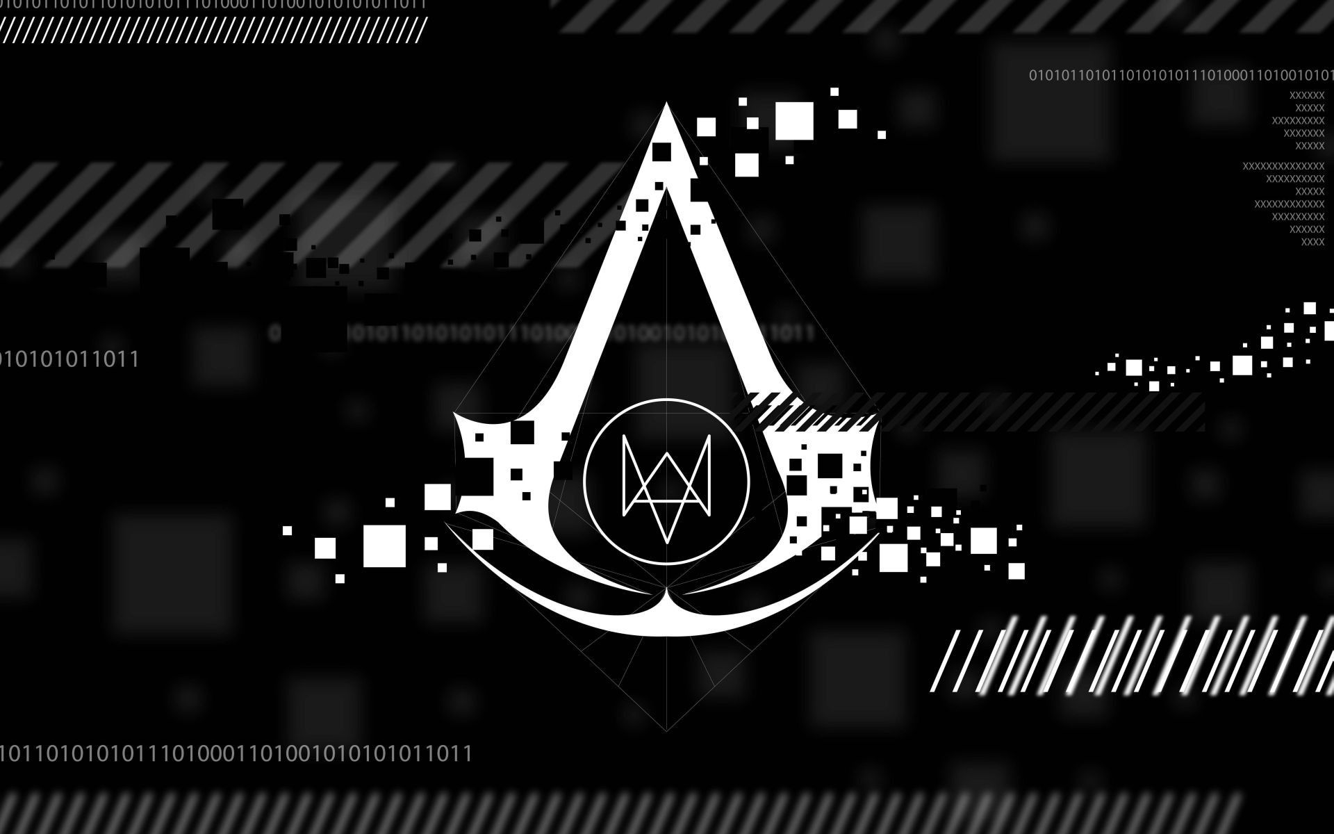 Assassin's Creed Watch Dogs logos video games wallpaper