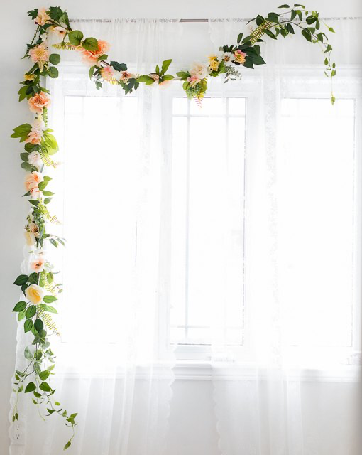 Not Every DIY Is Doable, but This Flower Garland Totally Is #garlandofflowers