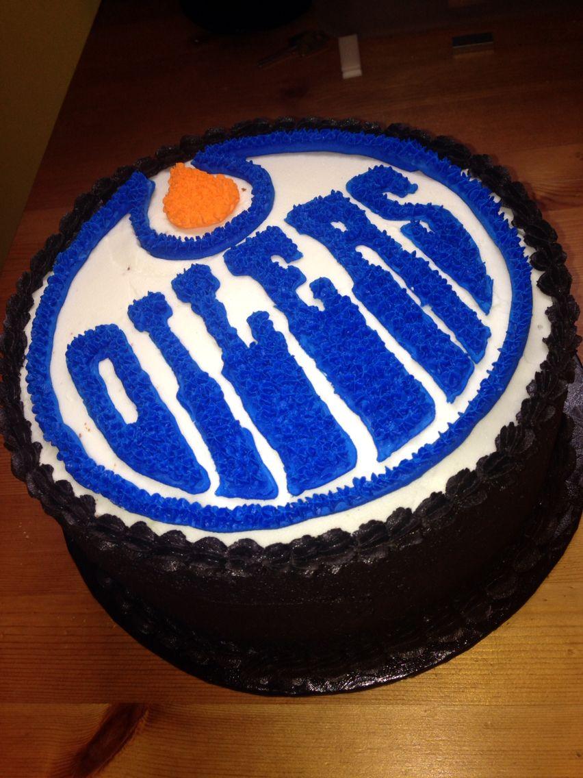 Edmonton Oilers cake GO OILERS GO Pinterest Cake Birthdays