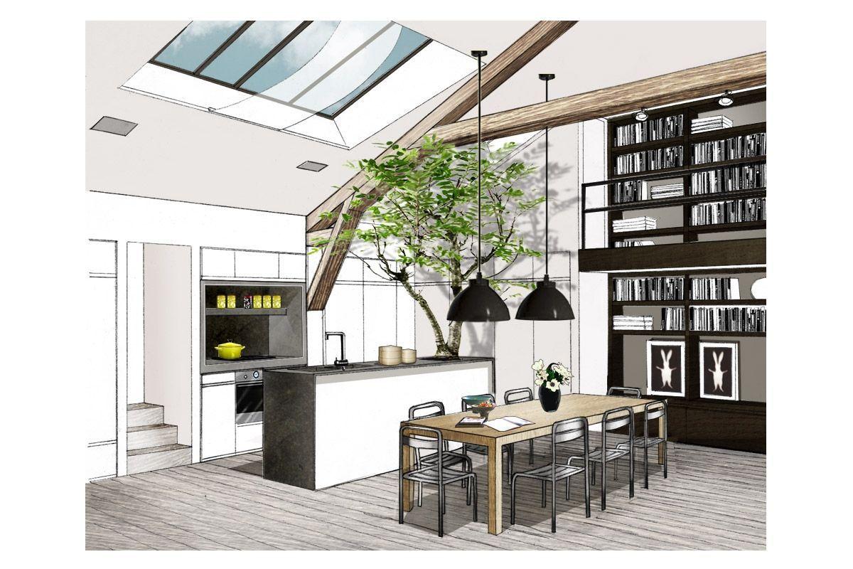 J 39 aime le mode de repr sentation int rieur projet de l - Cuisine architecte d interieur ...
