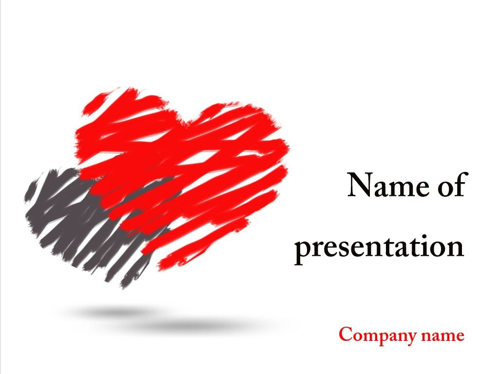 two hearts powerpoint template | powerpoint templates | pinterest, Modern powerpoint