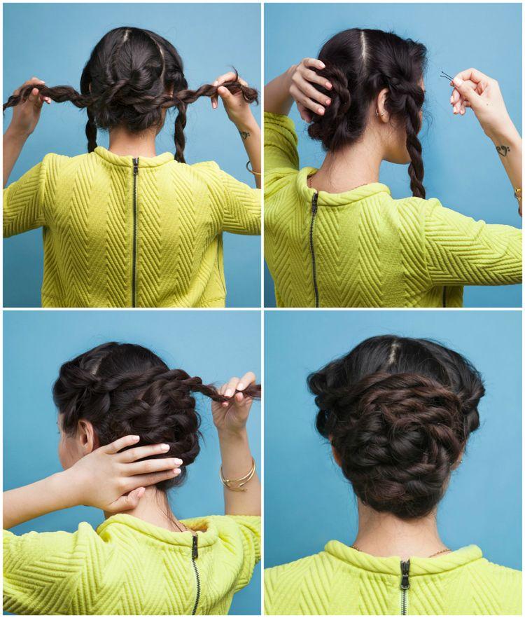 Haare Kordeln Locken über Nacht Beachwaves Frisuren Hair