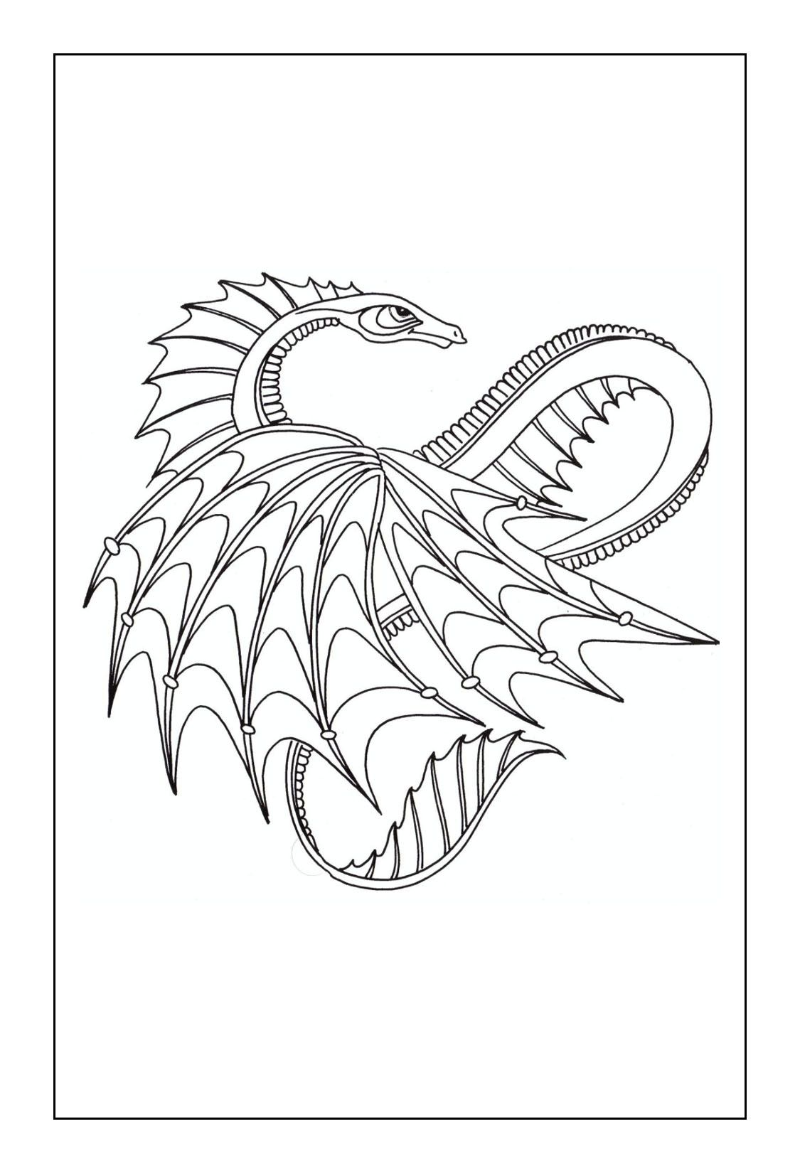 Dragon Coloring Pages | coloring pages | Pinterest | Dragons