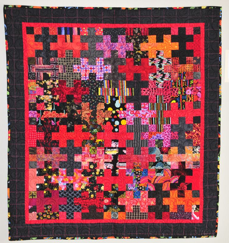 """Puzzle the Square II"" by Jan Aaron. 2012 FAOF. Strip quilt."