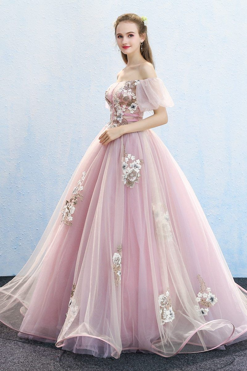 Light Pink Bubble Sleeve Luxury Rococo Ball Gown Regular price