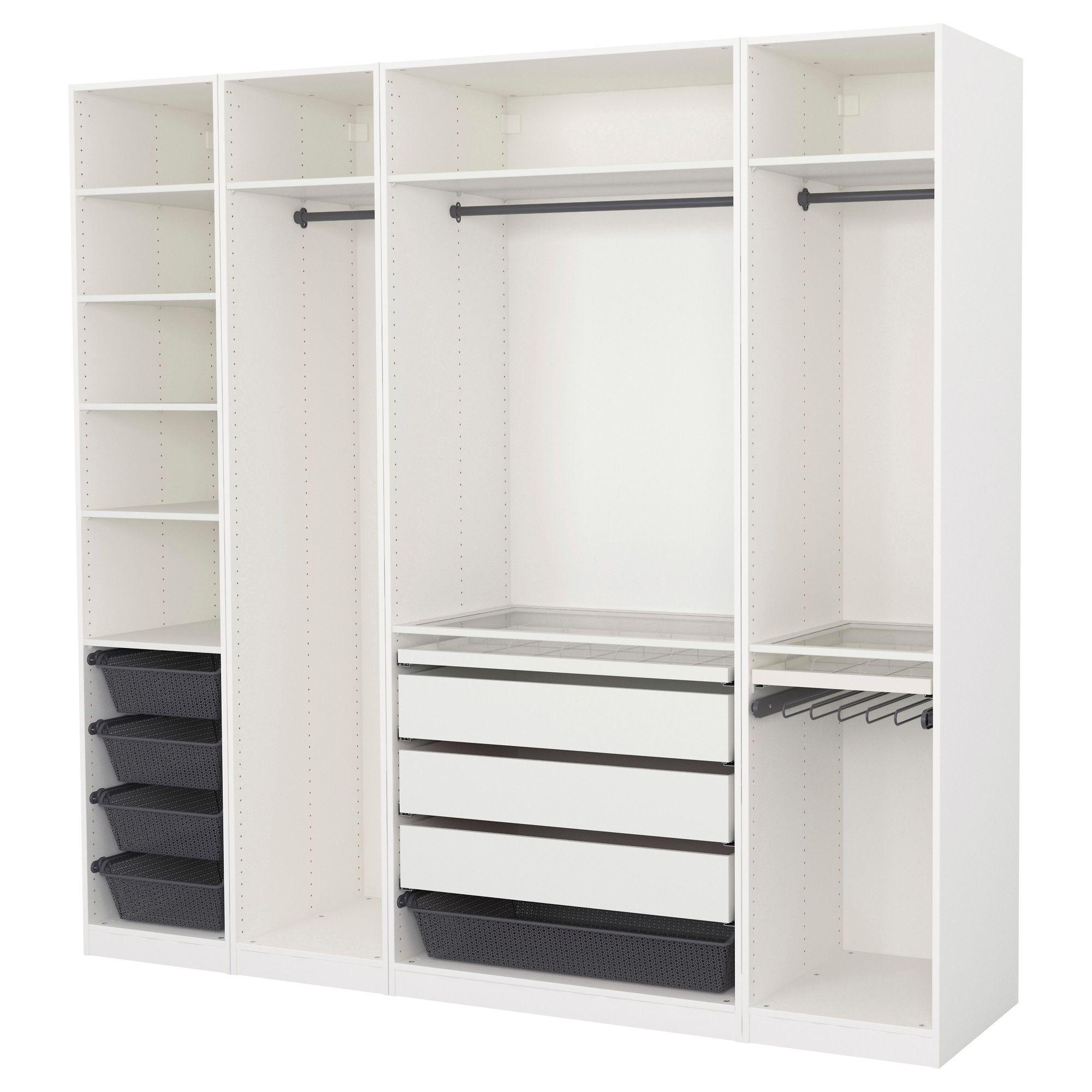 PAX Kledingkast wit 250x58x201 cm Inloopkast ikea