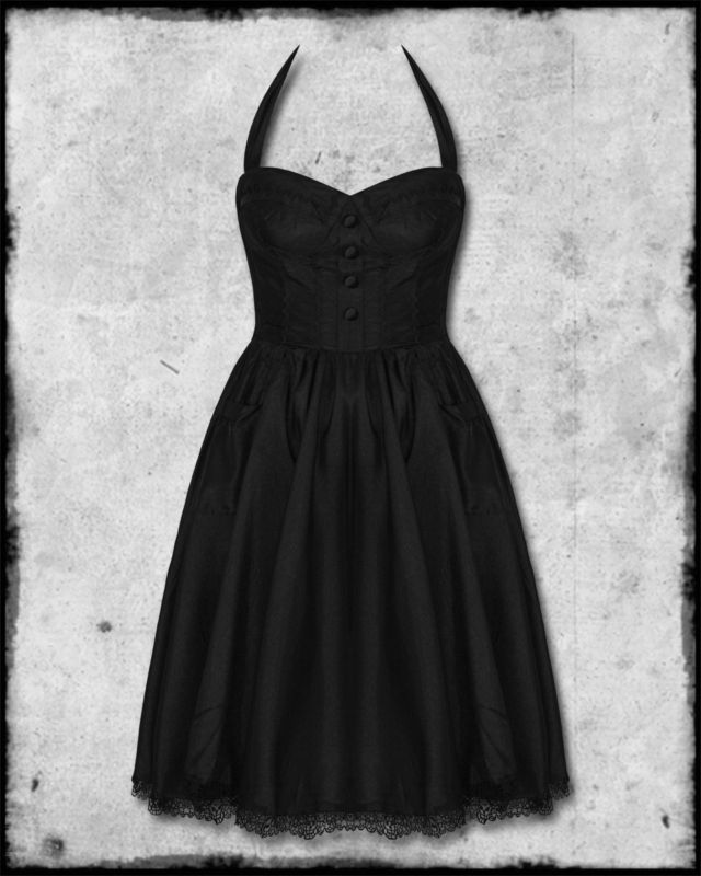 0361585107c Hell Bunny Black Ursula Goth Steampunk Prom Dress Prom dress for me