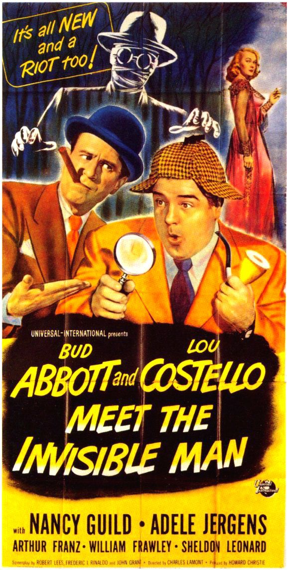 Abbott And Costello Meet The Invisible Man Abbott And Costello Meet The Invisible Man 1951 Abbott And Costello Old Movie Posters Movies By Genre