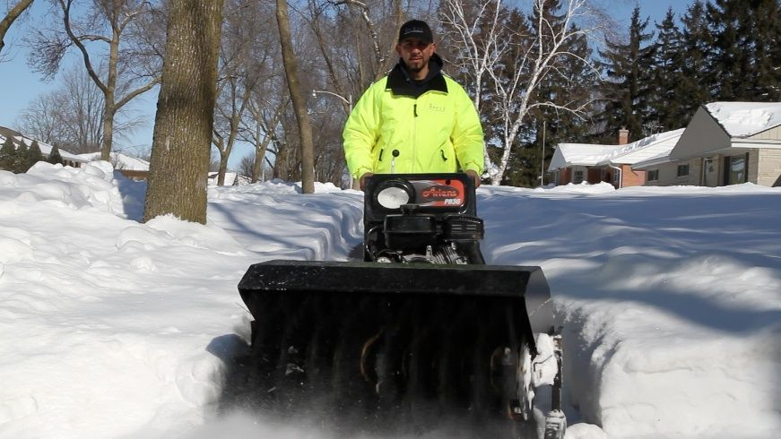 Be sure to clean the area you plan to clear with a snow blower before you begin.