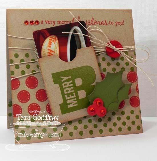 Gift Card Greetings, Darling Dots, Gift Card Pocket - Vertical Die-namics, Jumbo Christmas Stockings Die-namics - Tara Godfrey