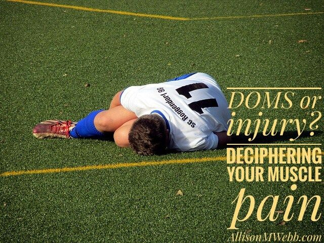 So is your pain #DOMS  or injury? Decipher your #muscle pain at http://www.allisonmwebb.com/2016/08/22/doms-or-muscle-injury/ via @AllisonMWebb7 #fitness #MoveItMonday