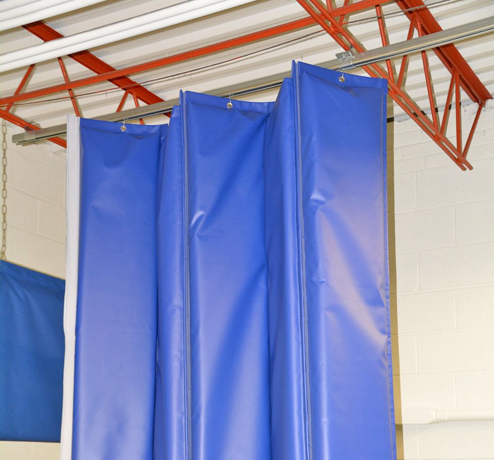 Retractable Acoustic Curtains With Single Barrier Technology Curtains Folding Walls Industrial Curtains