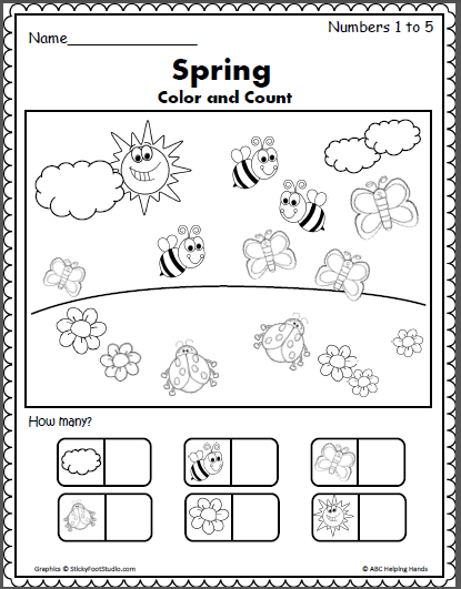 spring writing activities The place to find tons of activities for preschoolers that are more advanced than most of the activities marked for toddlers spring flower art collage.