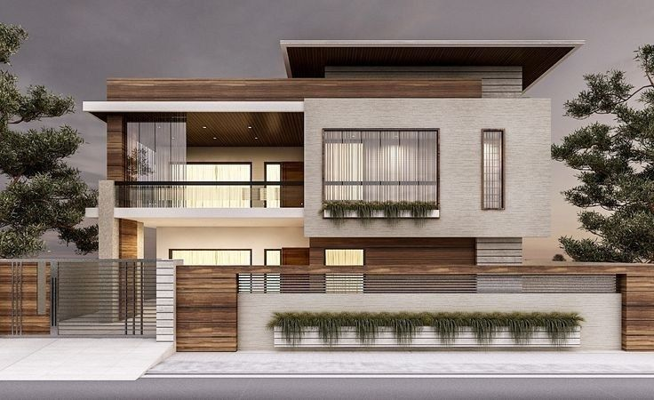Exterior Modern Style Contemporary House Designs Trendecors