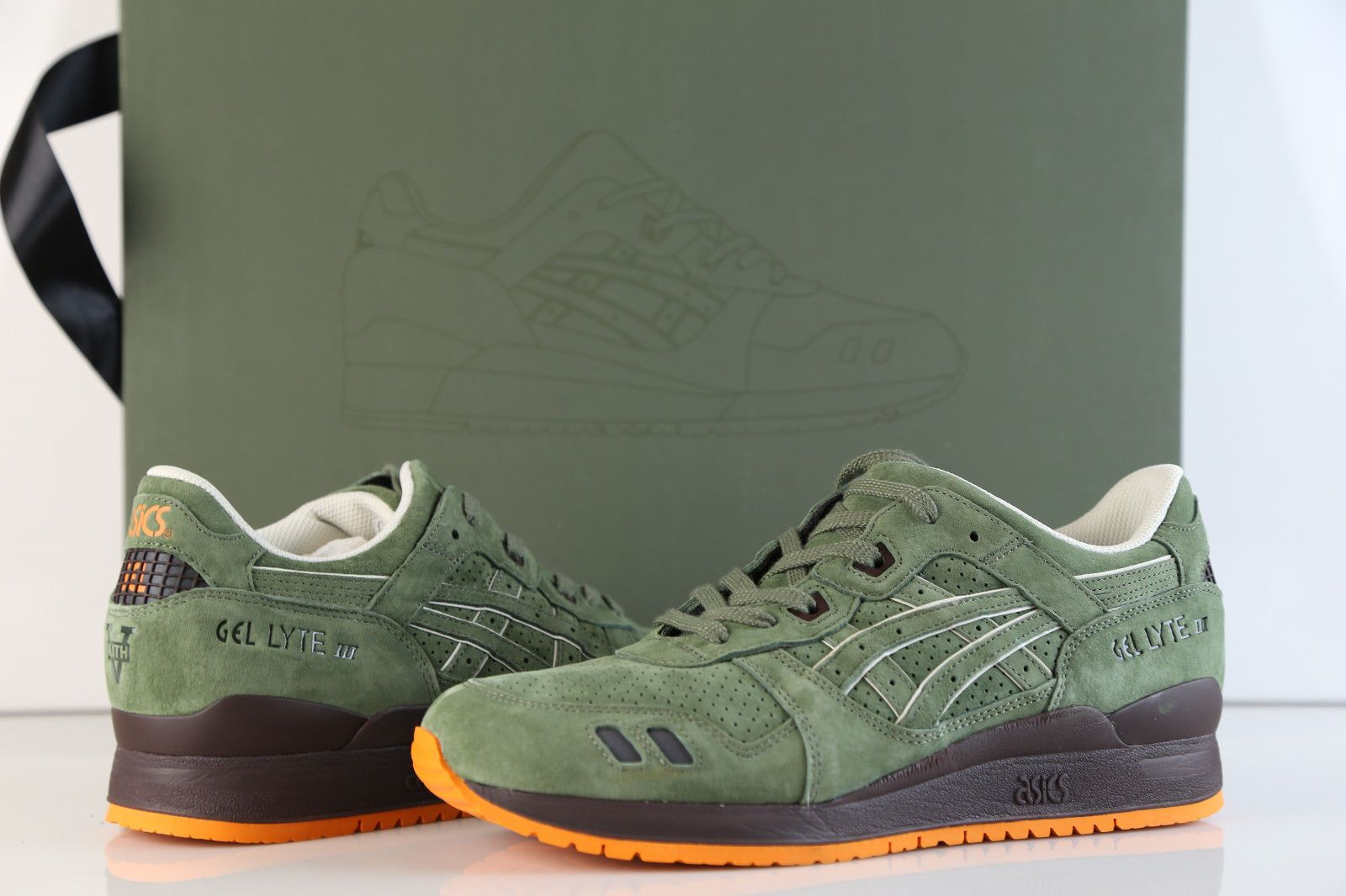 info for 97dd0 179a3 Asics Ronnie Fieg Kith Gel Lyte III Made Japan Militia Green ...