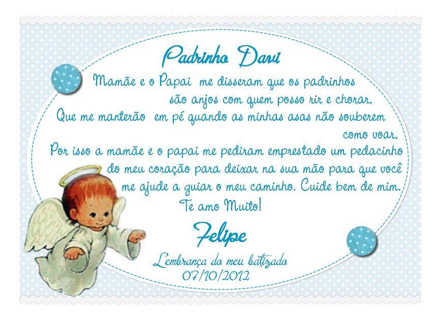 Convite Padrinhos Batismo 6 Modelos De Convite Heitor Convite
