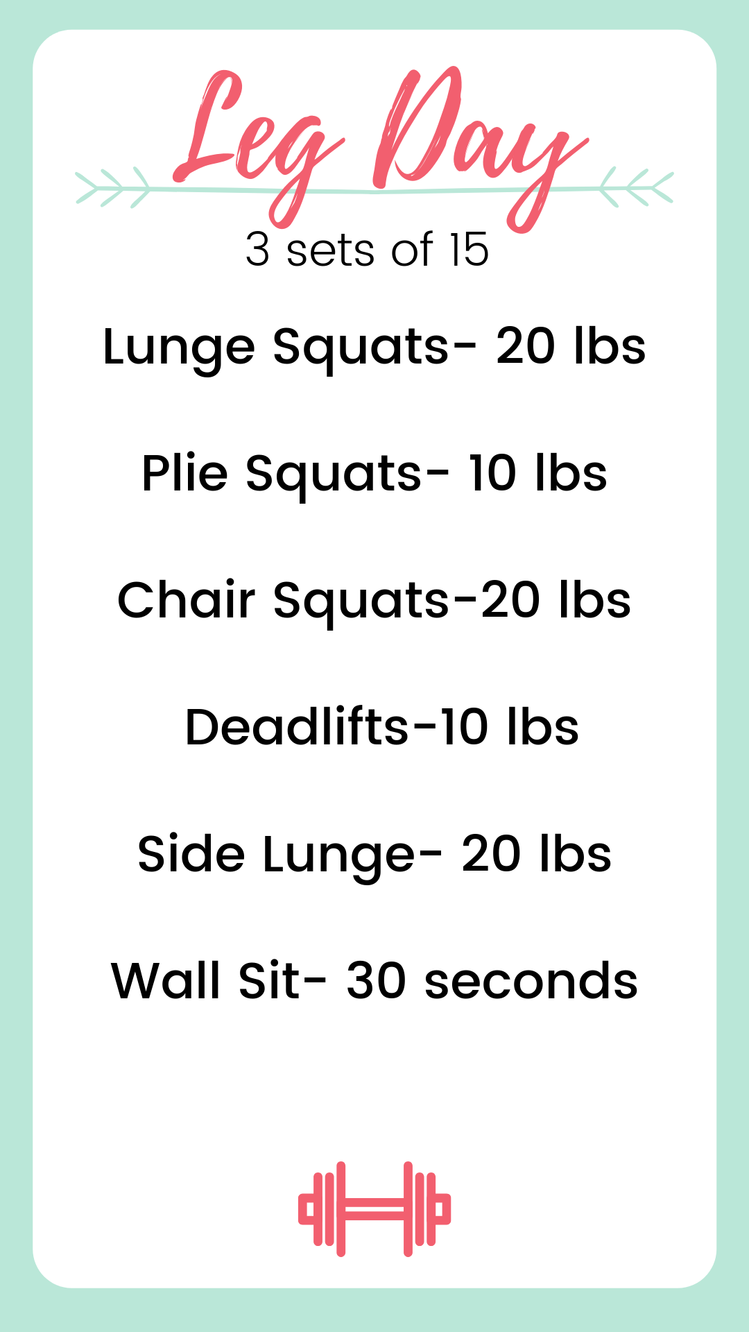 This Leg Day routine is perfect for beginners trying to live a more healthy lifestyle. It's a great