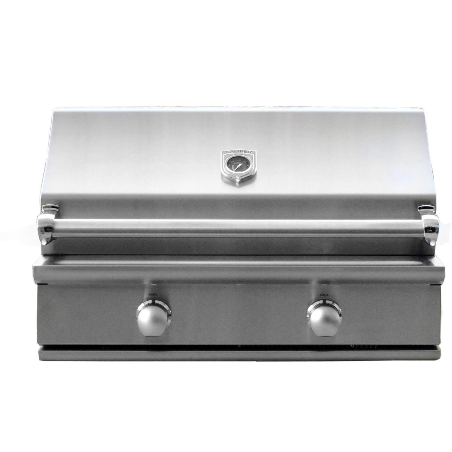 Caliber Crossflame Silver 35 Inch Built In Gas Grill Review Gas Grill Reviews Propane Gas Grill Gas Grill