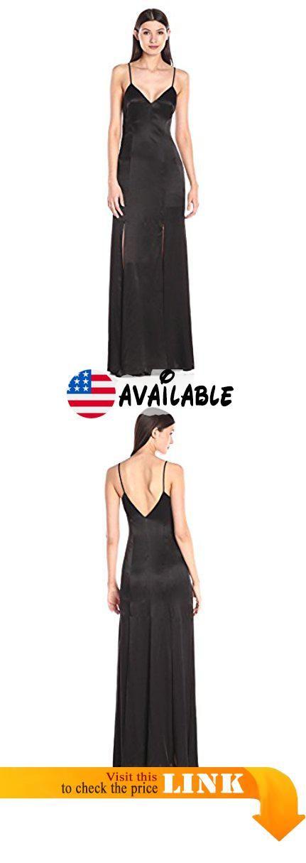 9a84bdb43aff B0160TMHLE : ABS Allen Schwartz Women's Car-Wash Slip Gown Black 8. V-neck carwash  slip gown in satin. V-neck carwash slip gown in satin.