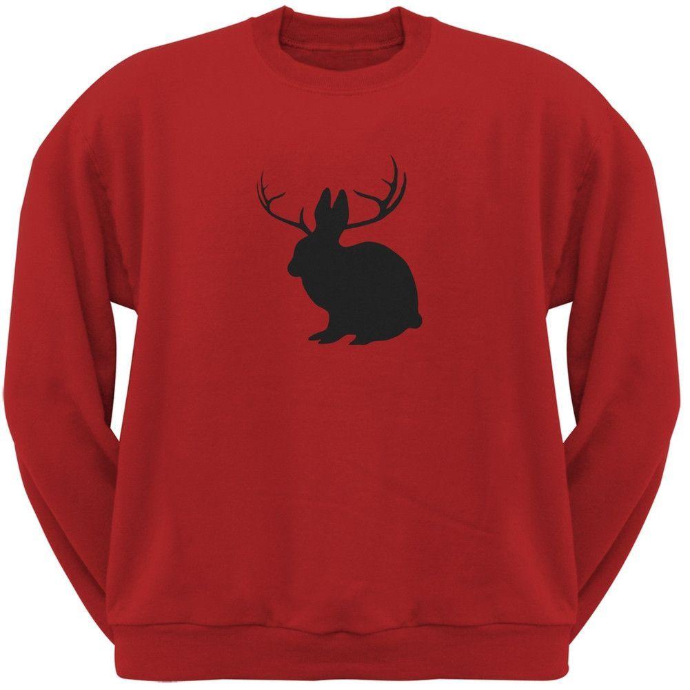 Jackalope Red Adult Pullover Hoodie