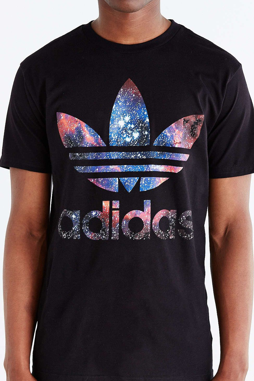 17b74ed0 Graphic Tees, Tops, + Hoodies for Men. adidas Originals Galaxy Trefoil Tee