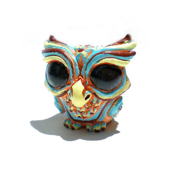 Resin Figure Wise Owl Retro Cream Version by Seriouslysillygirls, $25.20, kinda looks like Majora's Mask