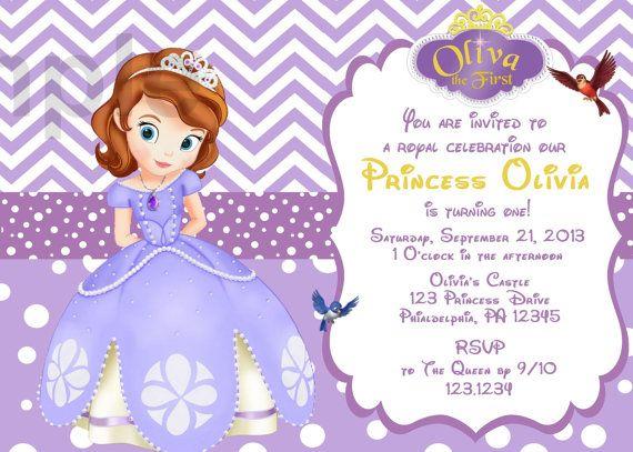 Sofia The First 2 Birthday Invitation Digital By CutieTootiePrints