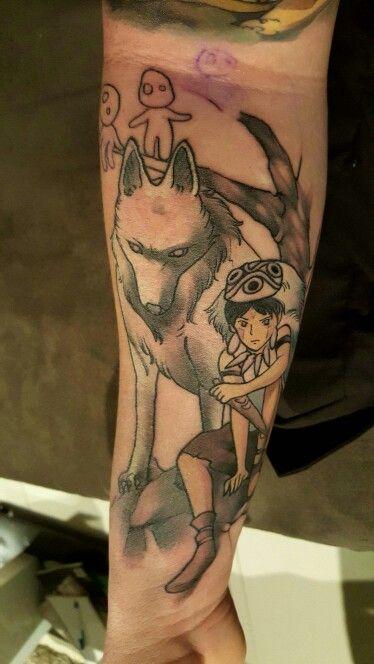 Studio Ghibli tattoo. Princess Mononoke