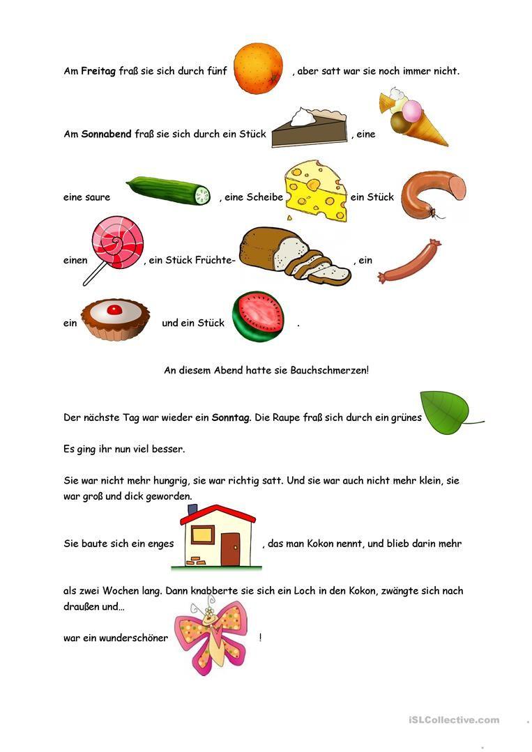 Die kleine Raupe Nimmersatt | lieder | Pinterest | Kindergarten