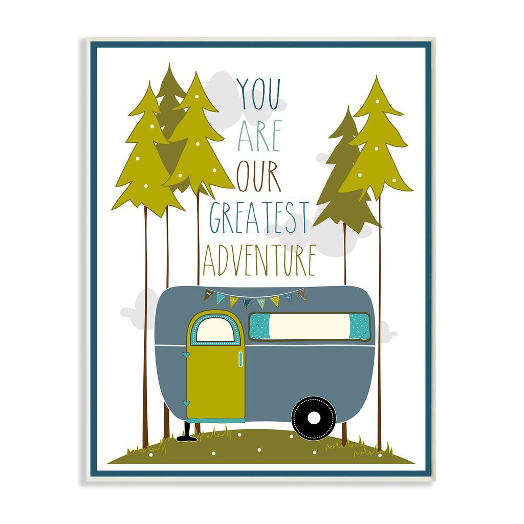 Stupell You Are Our Greatest Adventure Blue and Green Art Wall Plaque