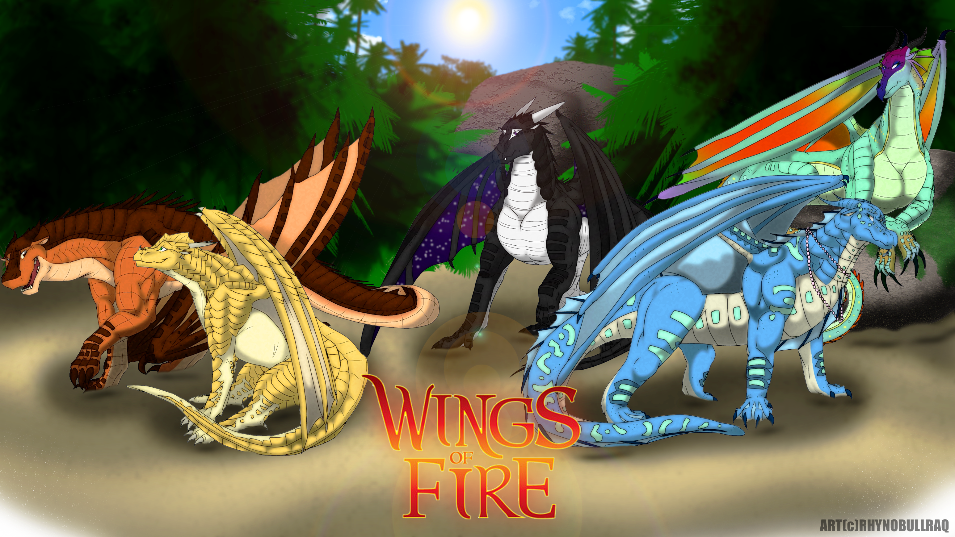 Wings of Fire by RhynoBullraq on DeviantArt | Dragons And ...