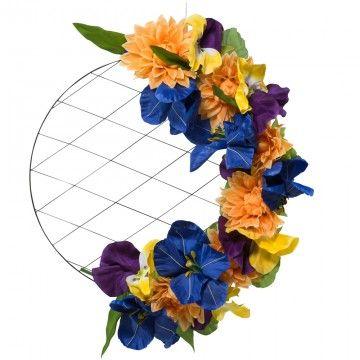 cirkelframe met bloemen