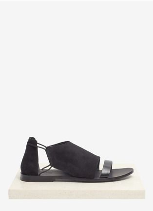 Alexander Wang - Imogen suede flat sandals | Black Sandal Flats | Womenswear | Lane Crawford - Shop Designer Brands Online