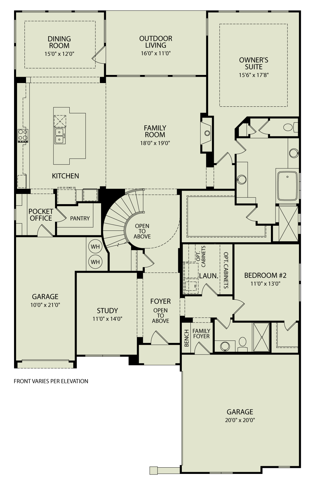 RAVENNA, 123 Drees Homes Interactive Floor Plans