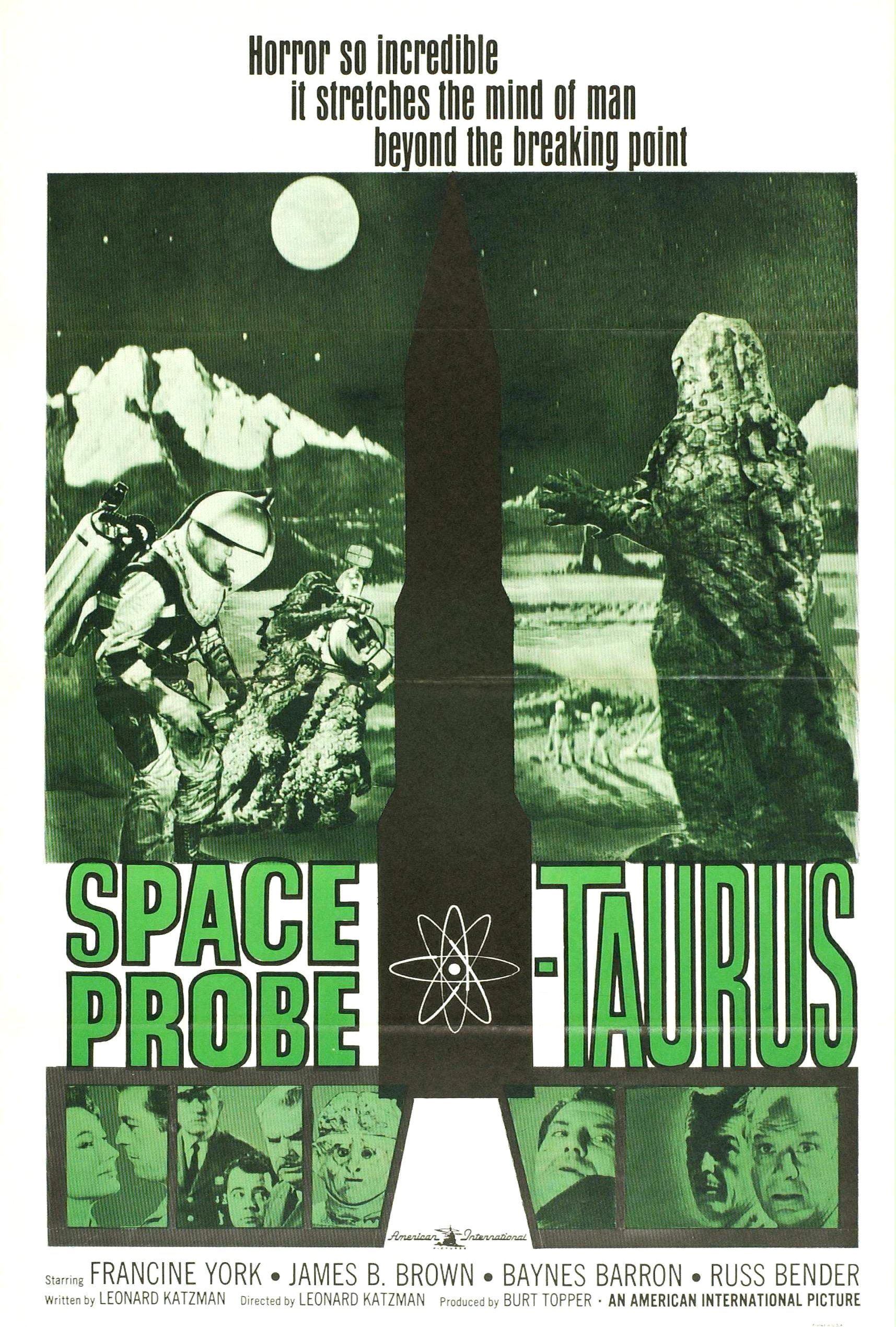 Space Probe Taurus (aka Space Monster, aka First Woman Into Space ...
