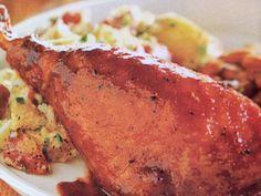 Easy crockpot recipes: BBQ Turkey Legs Crockpot Recipe