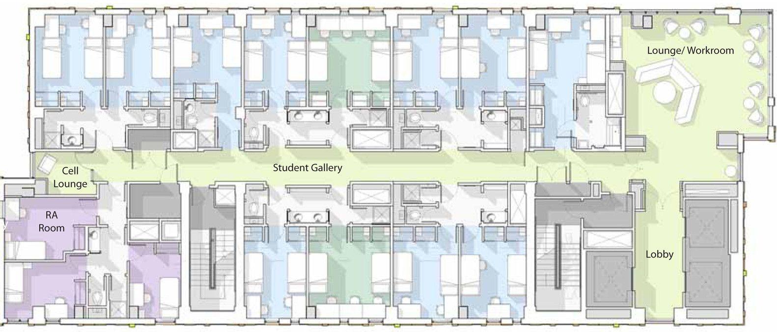 Galer a de residencia de estudiantes universidad de arte for Residencia para estudiantes