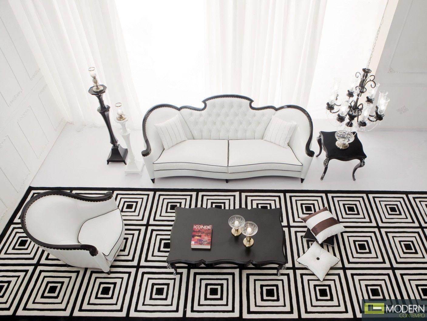 Arezzo Neo Classic Luxury Sofa Loveseat Set
