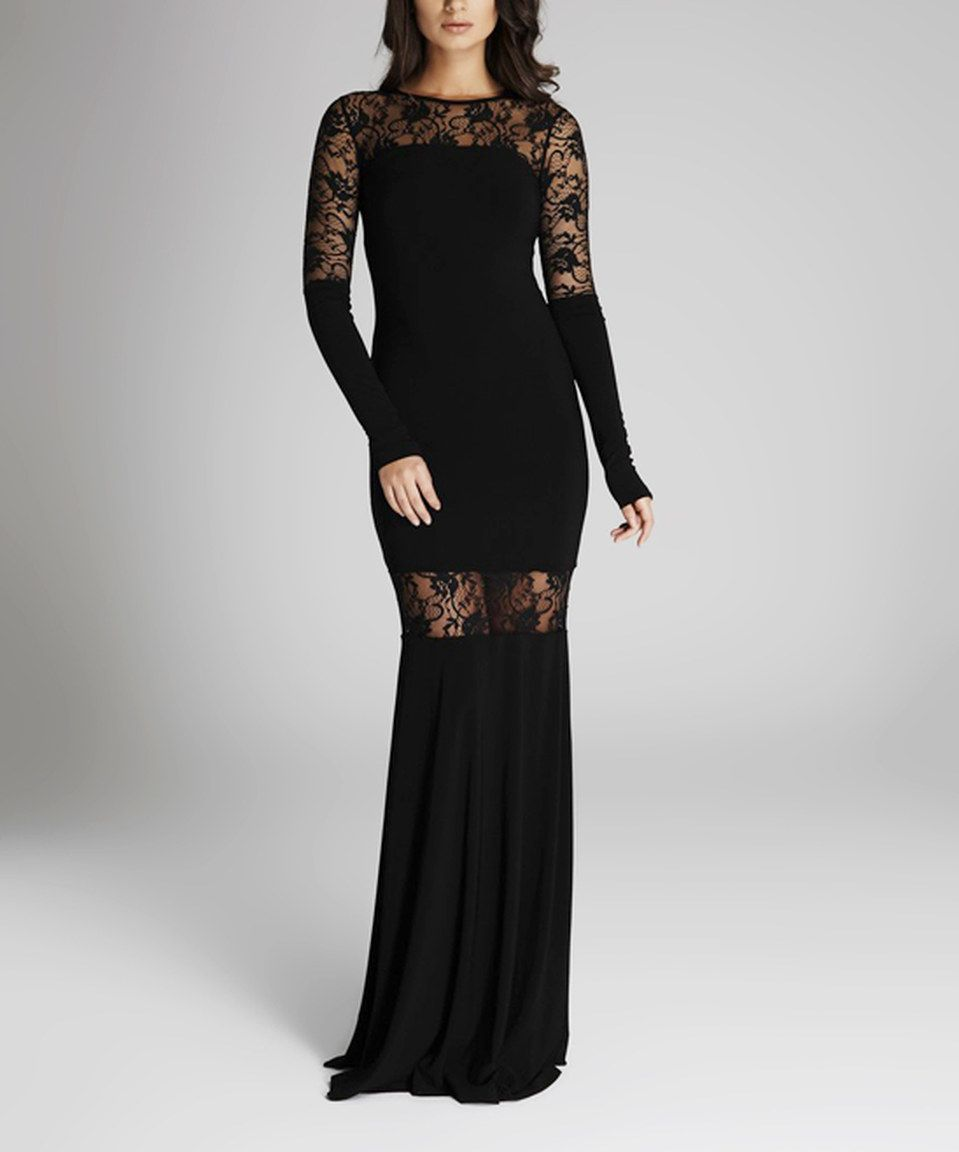 Another great find on zulily laranor black sheer laceaccent maxi
