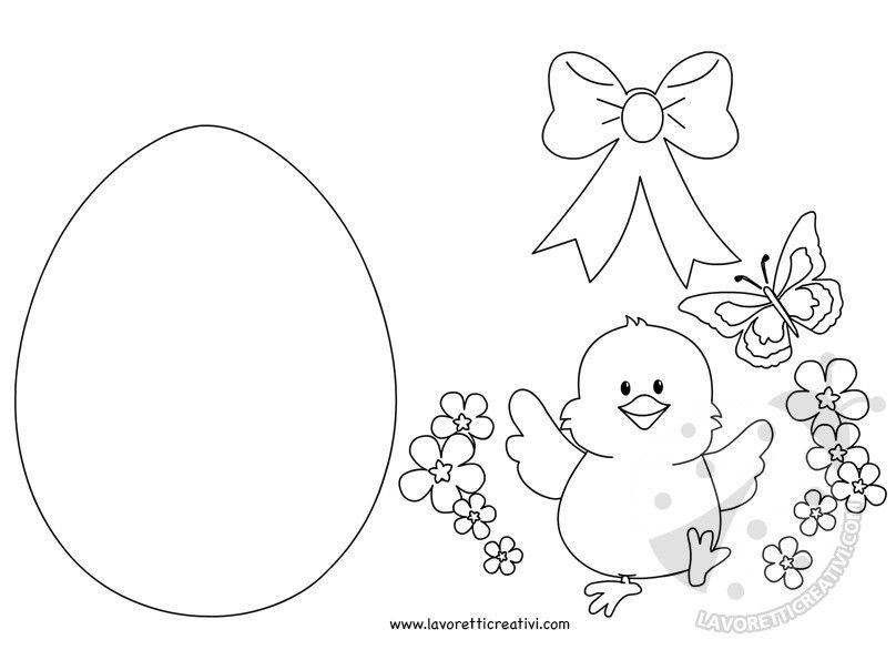 Decorazioni di pasqua uovo di pasqua con pulcino - Decorazioni uova pasquali per bambini ...