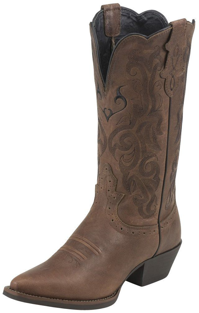Justin Boots Womens Western Stampede Dark Brown