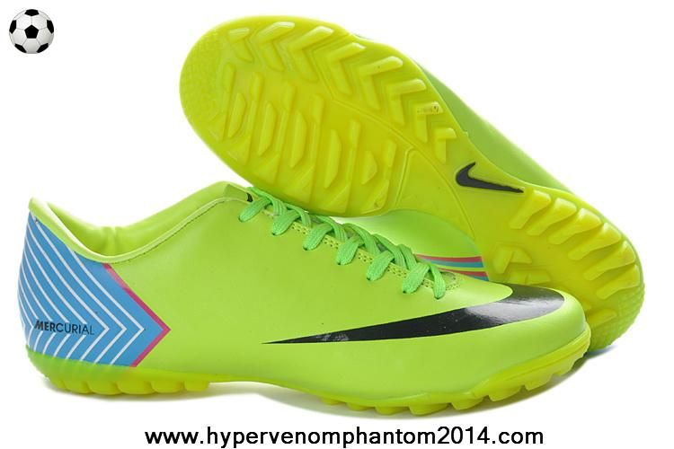 Nike Mercurial Vapor X TF Fluorescent yellow Blue