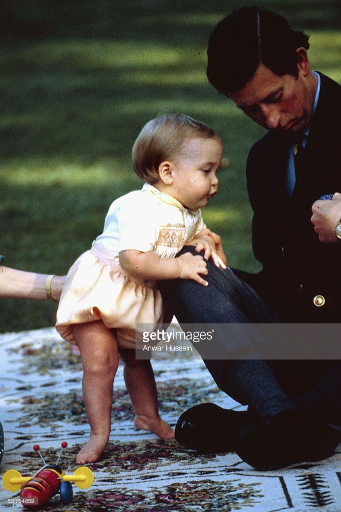 April 1983 Prince William is seen with his father HRH