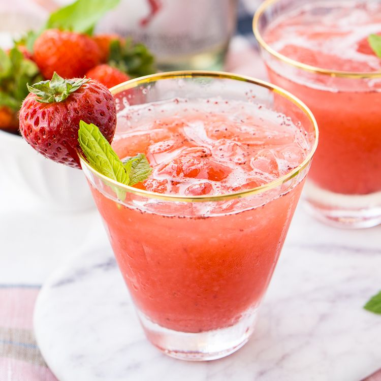 This Champagne Shirley Temple switches out soda for some bubbly for a twist on the classic!