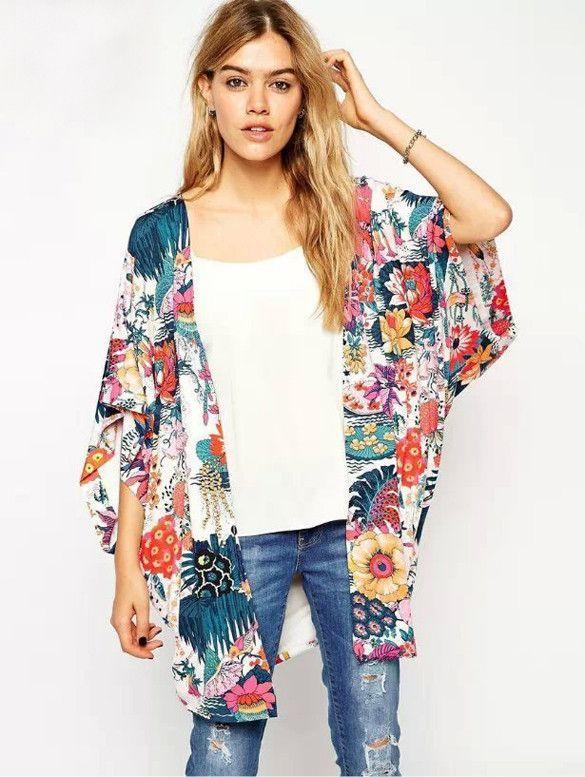 Floral Kimono Cardigan | Clothes | Pinterest | Kimono cardigan ...